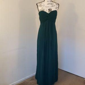 Strapless Floor Length Chiffon Dress